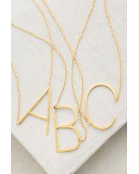 Anthropologie | Metallic Monogram Pendant Necklace | Lyst