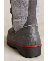 Sorel - Gray Tivoli Lace-up Boots - Lyst