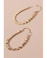 Anthropologie - Metallic Celeste Scalloped Hoop Earrings - Lyst