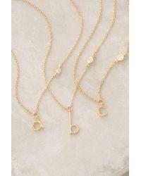 Anthropologie | Metallic Mini Monogram Pendant Necklace | Lyst