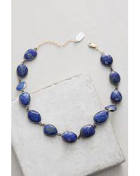 Ela Rae | Blue Bezeled Stone Choker | Lyst