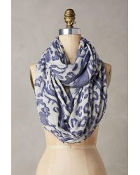 Anthropologie | Blue Tinta Spotted Infinity Scarf | Lyst