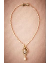 Anthropologie - Natural Pearl Drop Pendant Necklace - Lyst