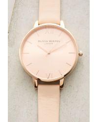 Olivia Burton - Natural Peachie Leather Watch - Lyst