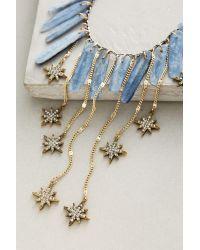 Anthropologie - Blue Falling Star Bib Necklace - Lyst