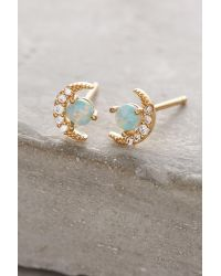 Anthropologie | Metallic Opal Crescent Earrings | Lyst