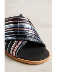 Miista - Black Deb Metallic Slide Sandals - Lyst