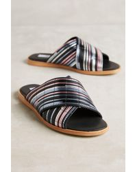Miista | Black Deb Metallic Slide Sandals | Lyst