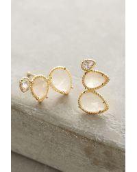Anthropologie   Metallic Blushed Earrings   Lyst