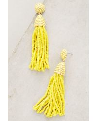 Anthropologie | Yellow Pinata Beaded Drop Earrings | Lyst