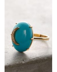 Andrea Fohrman | Metallic Turquoise Cresent Ring | Lyst