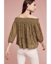 Deletta - Natural Sommer Off-the-shoulder Top - Lyst