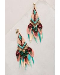 Gas Bijoux | Pink Huichol Plume Earrings | Lyst