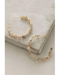 Anthropologie | Blue Ailynne Stone Hoop Earrings | Lyst