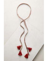 Chan Luu | Multicolor Swan Tassel Wrap Necklace | Lyst