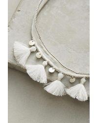 Chan Luu - White Rubina Tassel Choker Necklace - Lyst