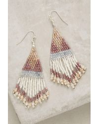 Anthropologie | Purple Darjeeling Fringe Earrings | Lyst
