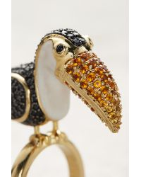 Noir Jewelry | Metallic Toucan Cocktail Ring | Lyst