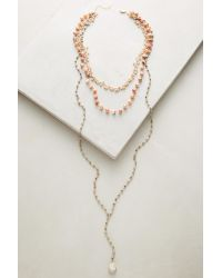Ela Rae - Red Triumverate Lariat Necklace - Lyst