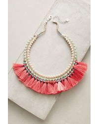 Anthropologie | Pink Merrily Bib Necklace | Lyst