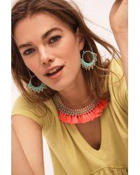 Serefina - Green Crocheted Hoop Earrings - Lyst