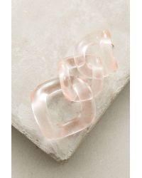 Zenzii | Pink Looped Lucite Earrings | Lyst