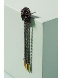 Anthropologie - Green Sparkle Fringe Drop Earrings - Lyst