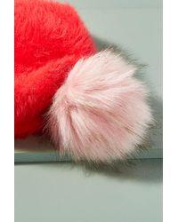 Anthropologie - Red Cosy Pom Pom Beanie - Lyst