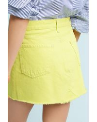 Citizens of Humanity - Yellow Cutoff Mini Skirt - Lyst