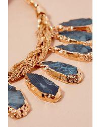 Anthropologie - Metallic Tanie Stone Necklace - Lyst