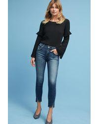 AMO | Blue Twist Mid-rise Skinny Cropped Jeans | Lyst