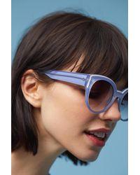 Anthropologie - Purple Callie Sunglasses - Lyst