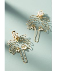 Mercedes Salazar - Metallic Tropical Silhouette Drop Earrings - Lyst