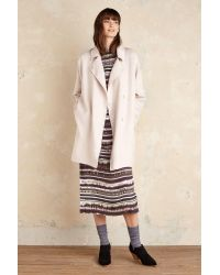 SELECTED - Kaia Wool Coat, Pink - Lyst