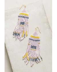 Anthropologie - Multicolor Geo Pastel Drop Earrings - Lyst