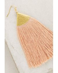 Anthropologie - Multicolor Serenite Tassel Earrings - Lyst