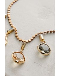 Anthropologie | Metallic Ombre Droplet Necklace | Lyst