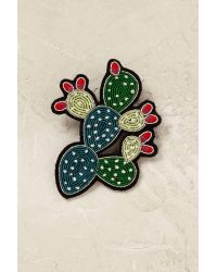 Macon & Lesquoy | Green Cactus Brooch | Lyst