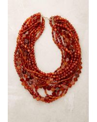 Anthropologie | Orange Galleria Beaded Necklace | Lyst