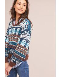 Harlyn | Blue Fair Isle Ballon-sleeve Pullover | Lyst