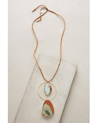 Anthropologie   Multicolor Jasper Pendant Necklace   Lyst