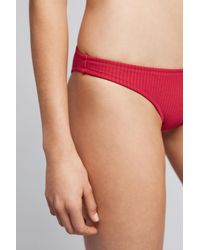 Made By Dawn | Red Ribbed Bikini Bottoms | Lyst