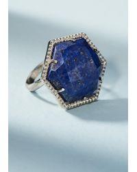 Anthropologie   Blue Skylar Cocktail Ring   Lyst
