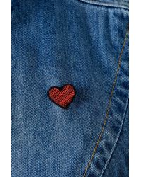 Macon & Lesquoy - Red Heart Pin Badge - Lyst