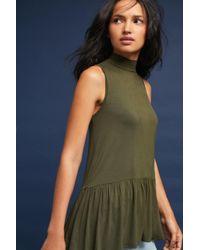 Sunday In Brooklyn - Green Sleeveless Peplum Turtleneck Top - Lyst