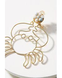 Mercedes Salazar - Yellow Tropical Silhouette Drop Earrings - Lyst