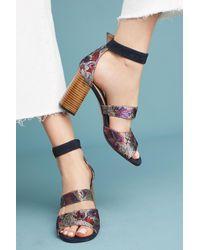 Anthropologie | Purple Mosaic Heels | Lyst