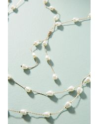 Anthropologie - Blue Imperial Layered Necklace - Lyst