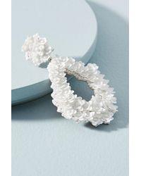 Anthropologie - White Florette Teardrop Earrings - Lyst