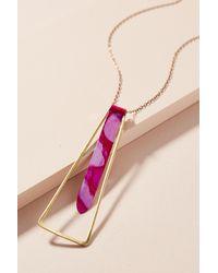 Sibilia - Pink Movement Pendulum Pendant Necklace - Lyst